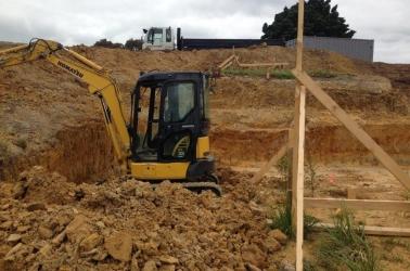 A housecut for foundation work.