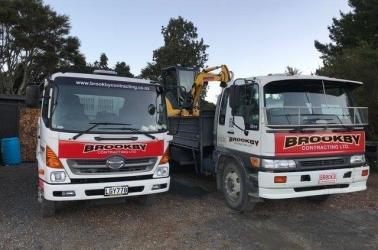The work trucks.